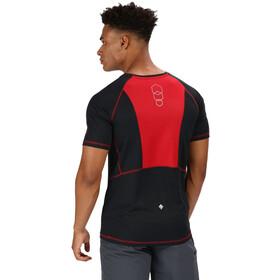 Regatta Virda II T-paita Miehet, black/classic red